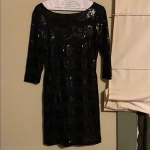 sequined black bodycon dress, worn one time!